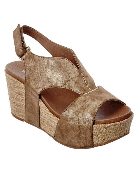 Sandal Sendal 855 F1xa Antelope 855 Leather Wedge Sandal In Brown Lyst
