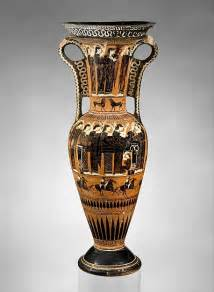 terracotta loutrophoros ceremonial vase for water archaic