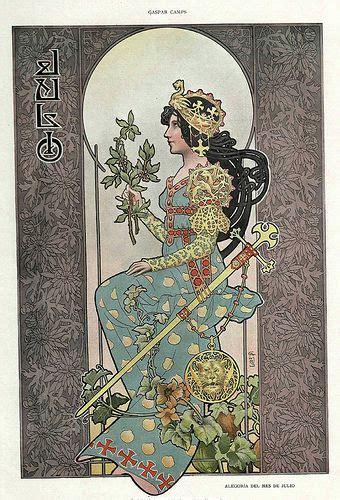 Calendario De 1901 Julio Alegoria Meses A 241 O Revista 225 Lbum Sal 243 N 1901