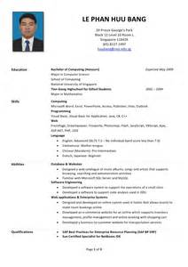 Resume Format Singapore by Huu S R 233 Sum 233