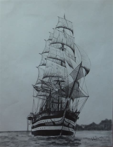 real boat drawing amerigo vespucci sail ship real italian beauty tall ship