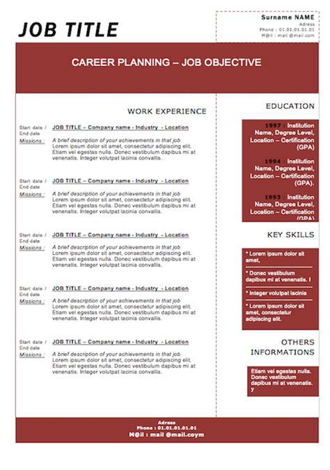 modern resume template free resume badak