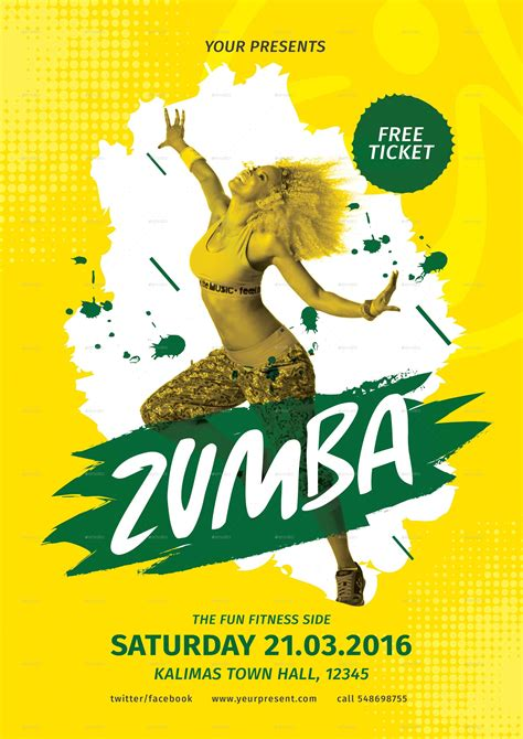 zumba party flyer by lilynthesweetpea graphicriver