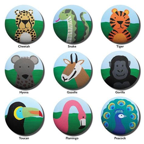 Jungle Drawer Knobs by Painted Knob Children S Custom Painted Jungle Safari Critters Zoo Animal Drawer