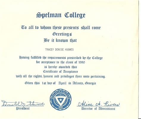 Spelman College Acceptance Letter This Is Like The Acceptance Letter I Received Spelman