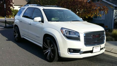 gmc acadia rims for sale 2013 acadia denali white on 22 quot 2crave wheels