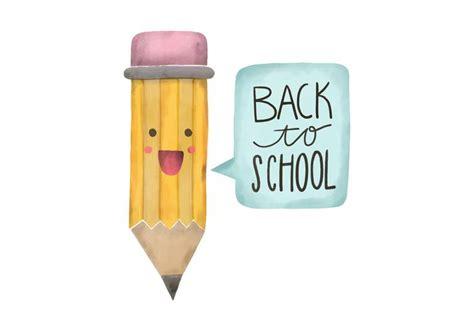 Character Pencil back to school watercolor pencil character vector
