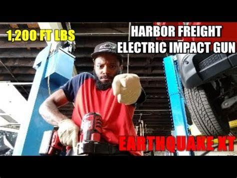 earthquake xt electric harbor freight electric impact gun 20v earthquake xt