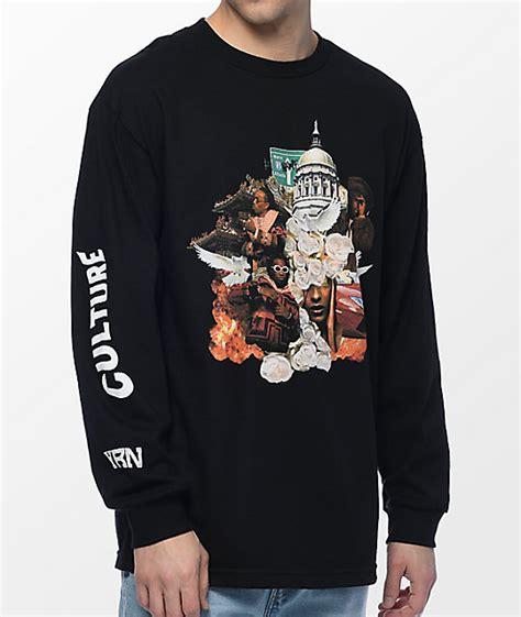 T Shirt Culture yrn culture album black sleeve t shirt zumiez