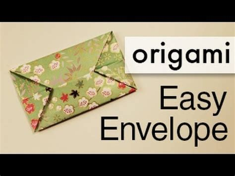 How To Make Small Paper Envelopes - easy origami envelope