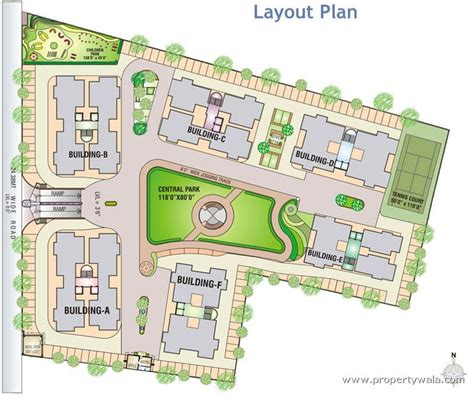 layout plan of township green residency adajan surat apartment flat project