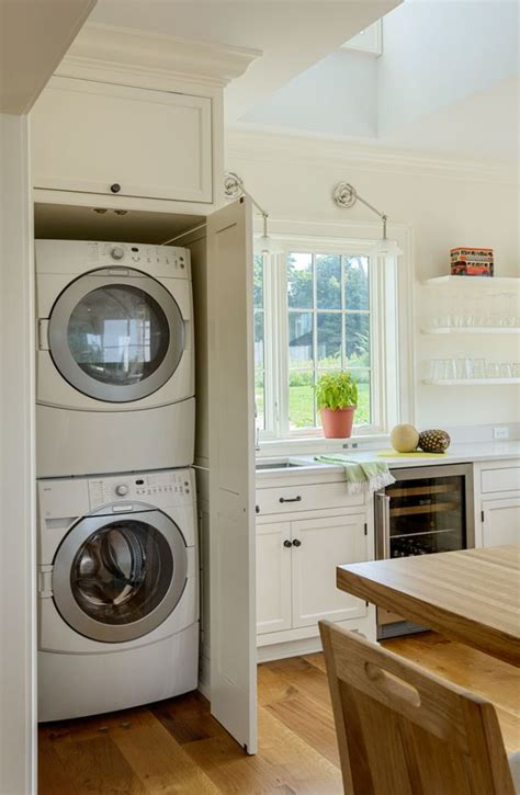 laundry in kitchen ideas built in washer dryer hide away your laundry machine