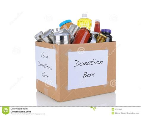 Donation Box Letter Food Donation Box Royalty Free Stock Photo Image 27763645