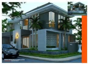 desain rumah minimalis kavling sudut hook 2 lantai berdiri diatas lahan dengan ukuran 10 5 x 18