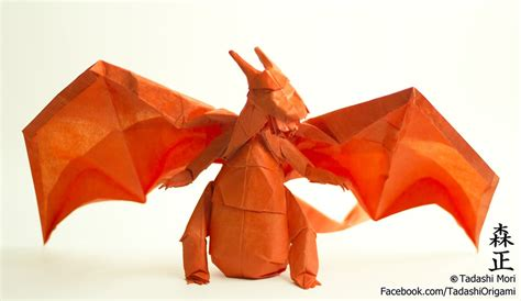 Origami Charizard - origami from the best generation part 1
