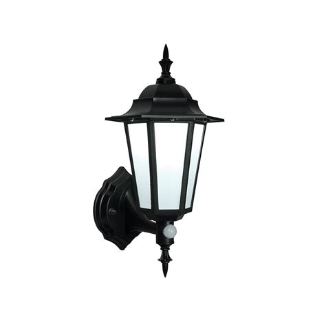 Outdoor Wall Lights With Sensor Endon Evesham Black Outdoor Led Wall Light With Sensor