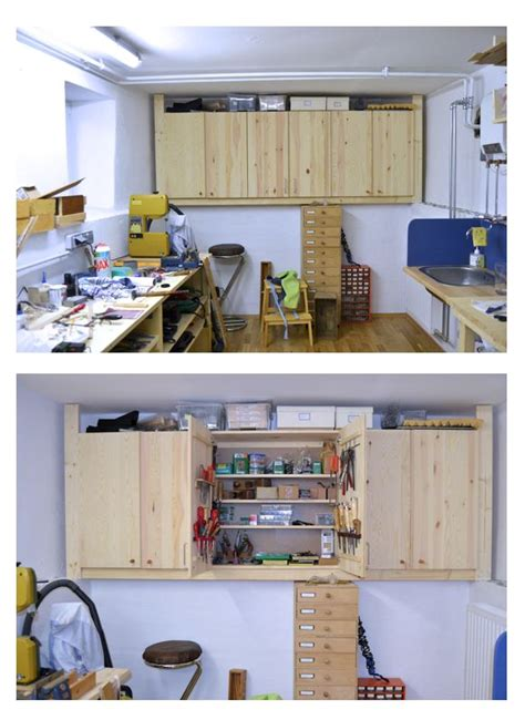 ikea tool storage ikea hack ivar cupboards into tools storage