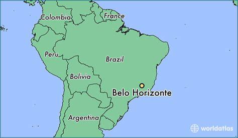 south america map belo horizonte where is belo horizonte brazil where is belo horizonte