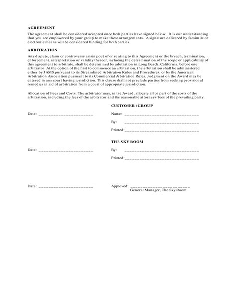 catering contract format free download