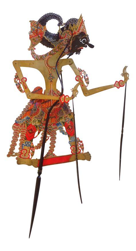 indonesian shadow puppet wayang kulit dursasana chairish