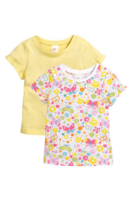 Sale Jersey Sepeda Set 100 2 Pack Jersey Tops Yellow Sale H M Us