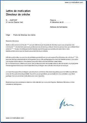 Resiliation Creche Lettre lettre de motivation creche mod 232 le de lettre