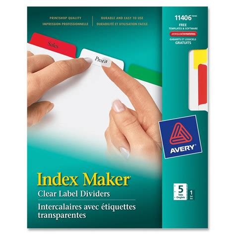 Avery Label Divider Ld Products Avery 11406 Template Word