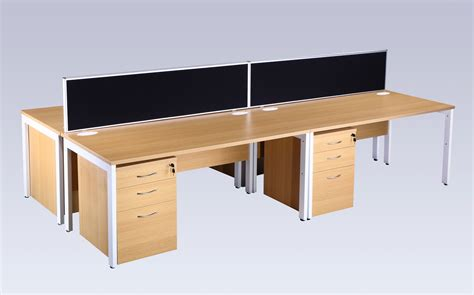 bench computer bench computer it office desk oak and white 800mm deep specialist furniture contracts