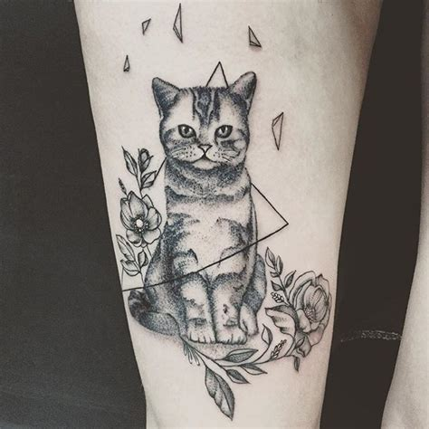 tattoo flower cat 30 best cats and flower tattoos images on pinterest