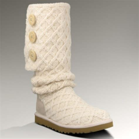 knit uggs ugg white knit boots