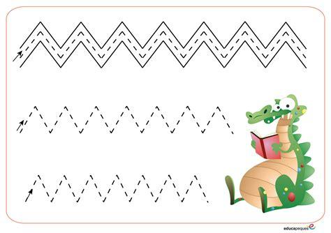 imagenes educativas para prescolar actividad para practicar la grafomotricidad