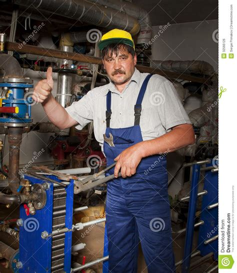 Plumbing Of Thumb by Plumber Giving Thumb Up Royalty Free Stock Image Image