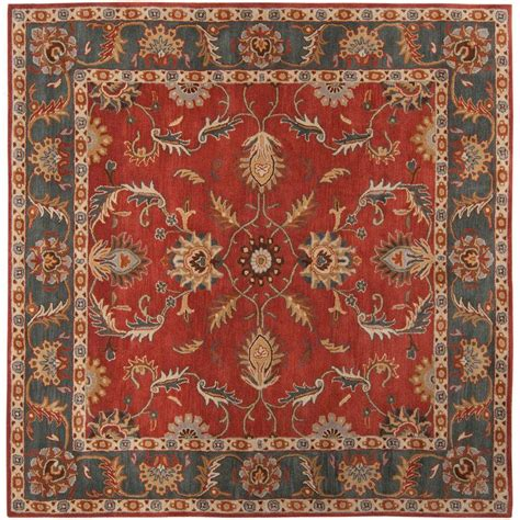 square rugs artistic weavers rust 4 ft x 4 ft square area