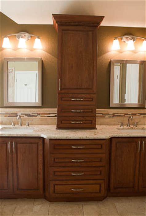 Countertop Cabinet Bathroom by Master Bathroom Remodel Colonial Gold Granite Countertop