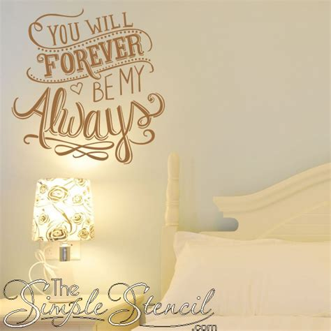 wall decal forever and always vinyl decal by villagevinepress you will forever be my always romantic wall quote