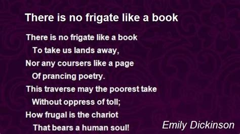 if there s a will books there is no frigate like a book poem by emily dickinson