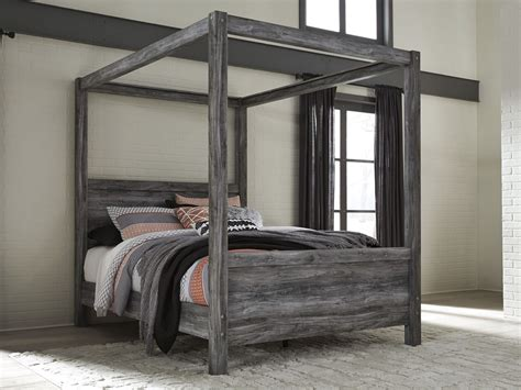 ashley canopy bed baystorm gray queen canopy bed from ashley coleman furniture
