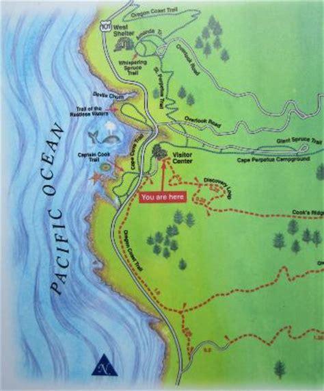 map of yachats oregon coast cape perpetua trail map picture of cape perpetua scenic