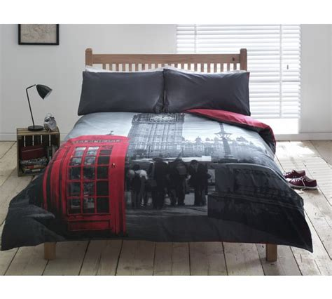 london bedding buy home london phonebox bedding set kingsize at argos