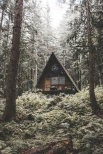 Cabin in the woods a frame triangle dream house outdoors