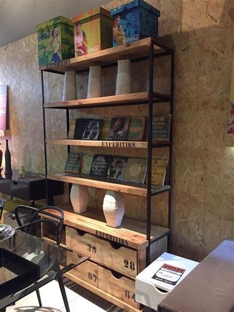 estante ferro e madeira estante industrial madeira e ferro 4 caixas r 2 690 00