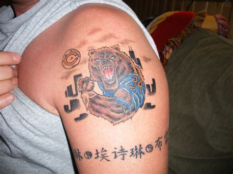 chicago bears tattoo designs 23 best chicago bears tattoos images on