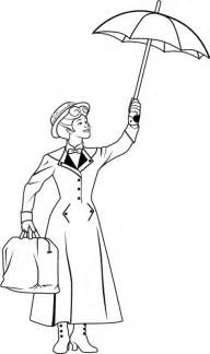 mary poppins coloring pages selfcoloringpages
