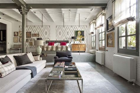 Spanish Style Homes Interior by Industrial Modern Style Loft In New York With Cozy Interiors