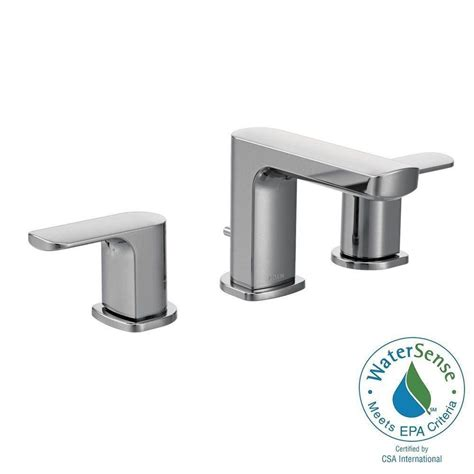 moen widespread bathroom faucet moen rizon 8 in widespread 2 handle bathroom faucet trim