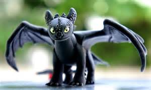 toothless black dragon model clay train dragon 2 size 4 quot karnclaypark