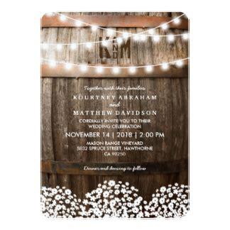 Wedding Announcement Rustic by Rustic Wedding Invitations Announcements Zazzle Au
