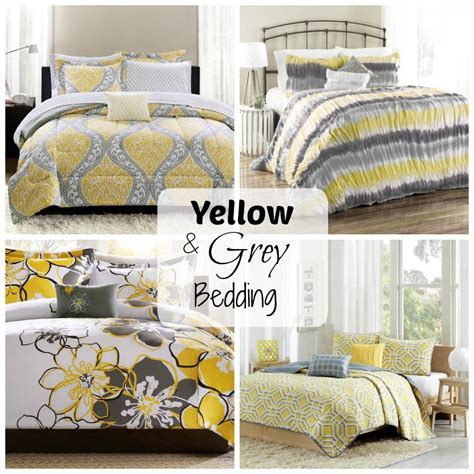 yellow and grey bedding sets yellow and grey bedding