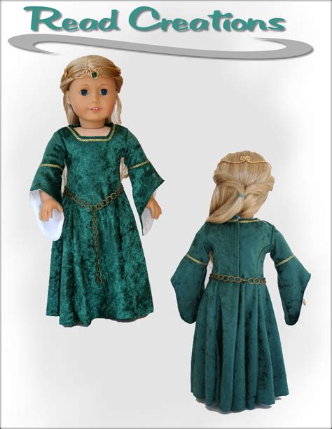 clothes pattern store medieval dress read creations for dolls