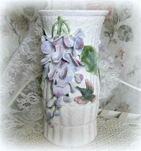 Flower Vase Decor by Clay Flower Vase Decor Vase White Vase Decorative Vase